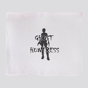 Ghost Huntress Throw Blanket