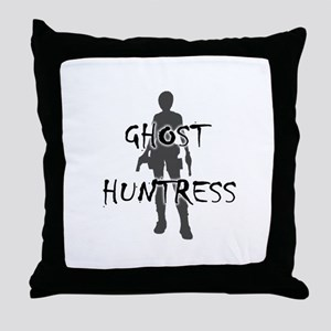 Ghost Huntress Throw Pillow