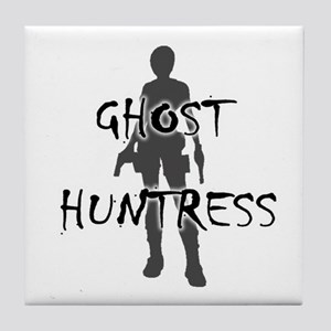 Ghost Huntress Tile Coaster
