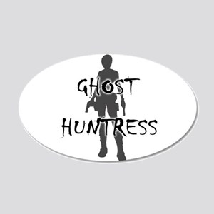 Ghost Huntress 22x14 Oval Wall Peel