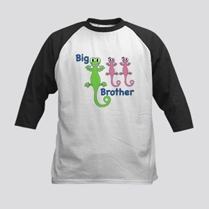 Big Brother of Twin Girls Kids Baseball Jersey