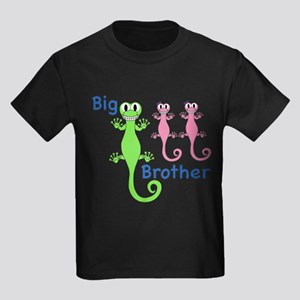 Big Brother of Twin Girls Kids Dark T-Shirt
