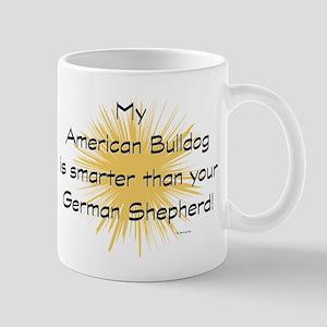 My American Bulldog is smarte Mug