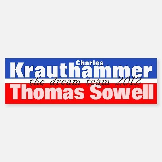 Krauthammer-Sowell Sticker (Bumper)