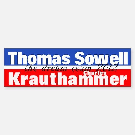 Sowell-Krauthammer Sticker (Bumper)