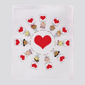 Hearts Around The World Throw Blanket