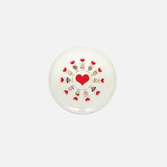 Hearts Around The World Mini Button