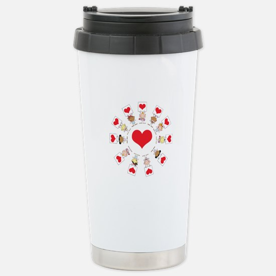 Hearts Around The World Stainless Steel Travel Mug