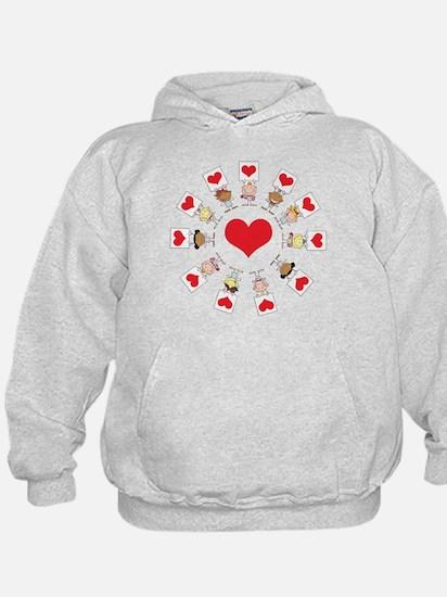 Hearts Around The World Hoodie