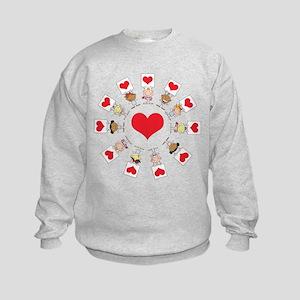 Hearts Around The World Kids Sweatshirt