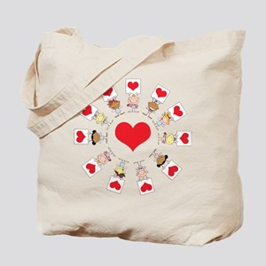 Hearts Around The World Tote Bag