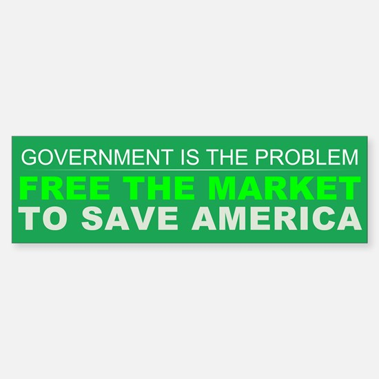 Free The Market Sticker (Bumper)
