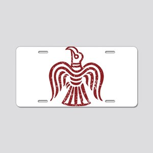 Red Raven Aluminum License Plate