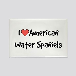 I heart American Water Spaniels Rectangle Magnet