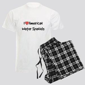 I heart American Water Spaniels Men's Light Pajama