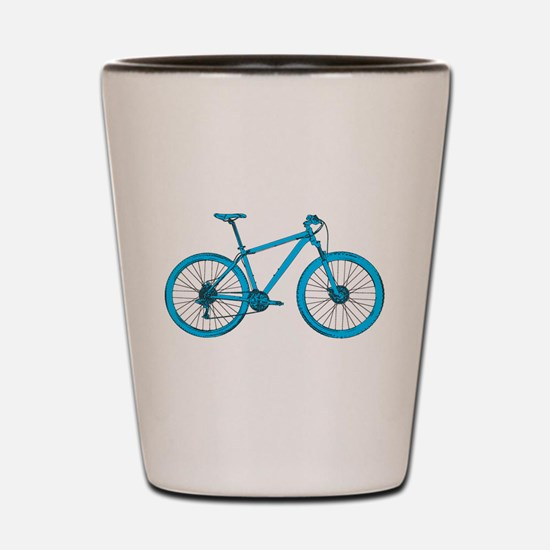 Mountain bikes Shot Glass