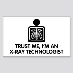 Trust Me I'm An X-Ray Technologist Sticker (Rectan