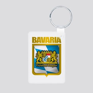 """Bavarian Gold"" Aluminum Photo Keychain"