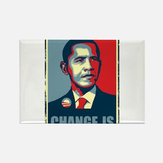 Obama - Change Is Rectangle Magnet