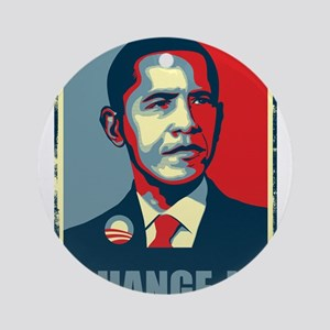 Obama - Change Is Ornament (Round)