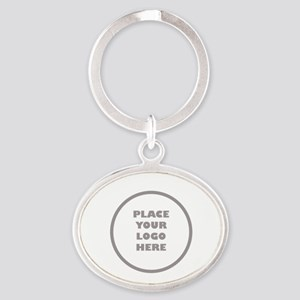 Personalized Logo Oval Keychain