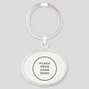 Personalized Logo Oval Keychain