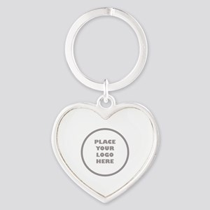 Personalized Logo Heart Keychain