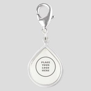 Personalized Logo Silver Teardrop Charm