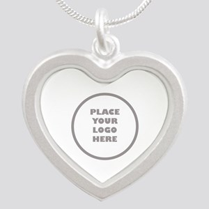 Personalized Logo Silver Heart Necklace