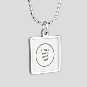 Personalized Logo Silver Square Necklace