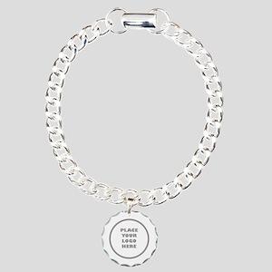 Personalized Logo Charm Bracelet, One Charm