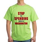 Stop Spending Green T-Shirt