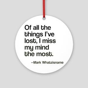 Lost Mind Ornament (Round)