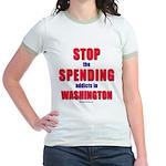 Stop Spending Jr. Ringer T-Shirt