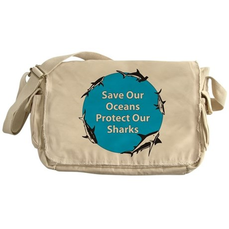 Save Our Oceans. Protect Our Messenger Bag