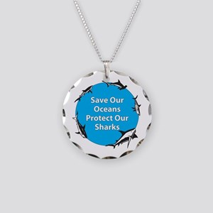 Save Our Oceans. Protect Our Necklace Circle Charm
