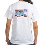 Continents Visited White T-Shirt