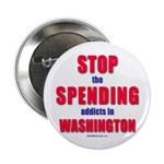 """Stop Spending 2.25"""" Button (100 pack)"""
