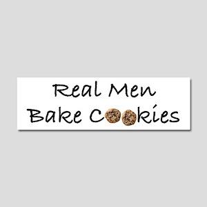 Real Men Bake Cookies Car Magnet 10 x 3