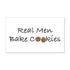 Real Men Bake Cookies 22x14 Wall Peel