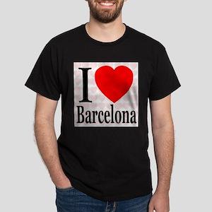 I Love Barcelona Black T-Shirt