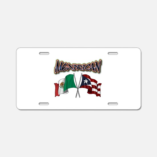 Unique Mexican flag Aluminum License Plate