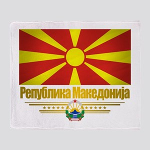 Macedonian Flag Throw Blanket