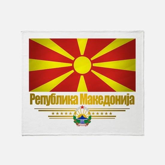 Macedonian Flag Throw Blanket