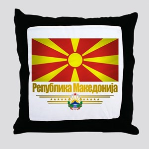 Macedonian Flag Throw Pillow