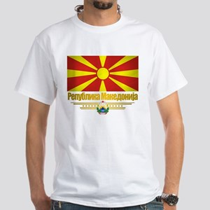 Macedonian Flag White T-Shirt