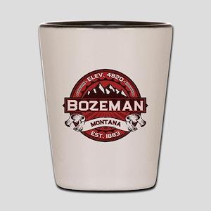 Bozeman Red Shot Glass