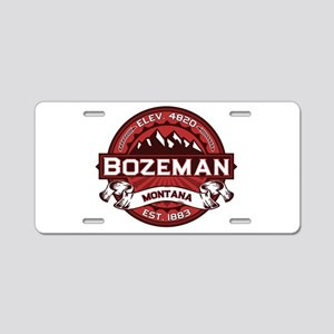 Bozeman Red Aluminum License Plate