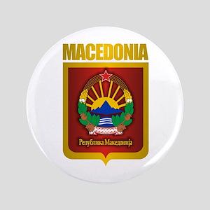 """Macedonian Gold"" 3.5"" Button"