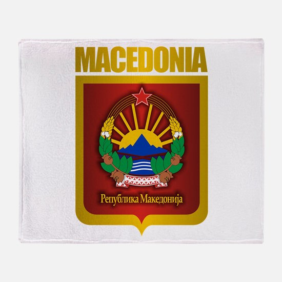 """Macedonian Gold"" Throw Blanket"